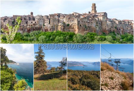 panorama of the pitigliano city