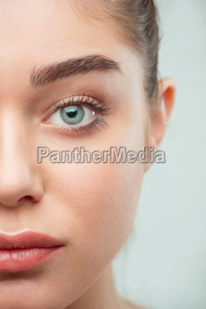 beautiful girl face perfect skin