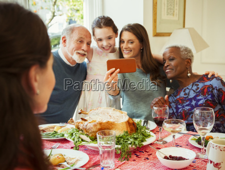 multi ethnic multi generation family with