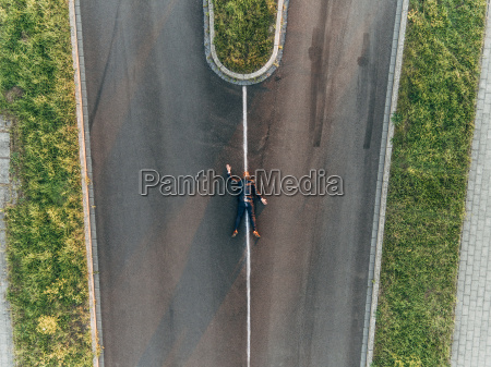 run over man lying on road