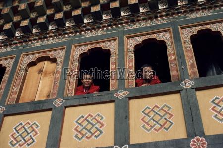 monks bhutan asia