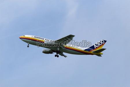 airbus a300 airborne england united kingdom