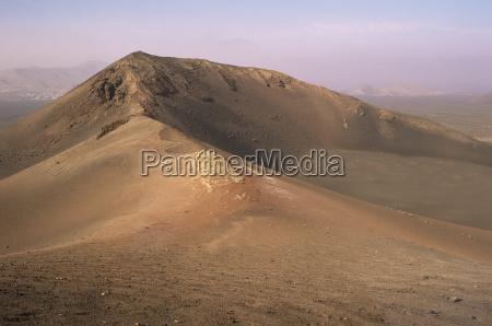 orange volcano crater timanfaya national park