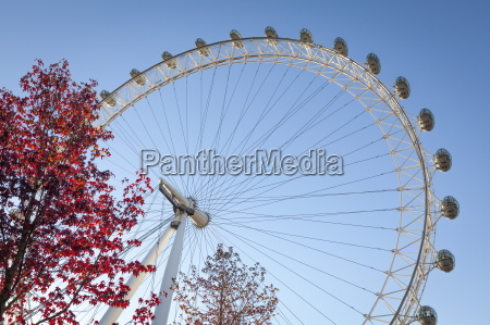 the london eye on a bright