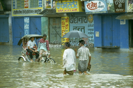 flooding after the monsoon india asia