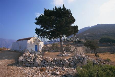 st stephanos chapel tilos dodecanese greek