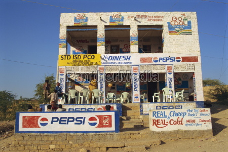 cafe jaisalmer rajasthan state india asia