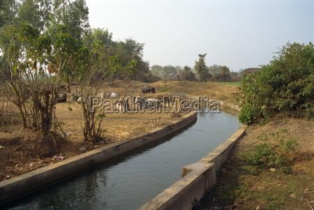 irrigation canal dhariyawad rajasthan state india