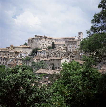 todi a typical umbrian hill town