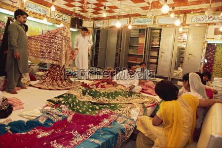 textile and silk sari shop anarkali