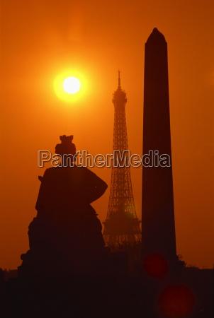the eiffel tower the luxor obelisk