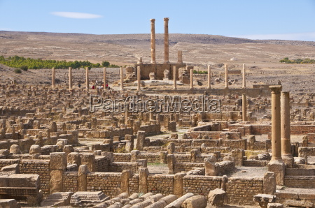 the roman ruins timgad unesco world