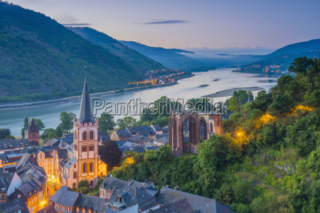 bacharach on the river rhine rhineland