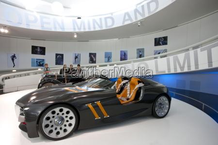 bmw concept sports car on display