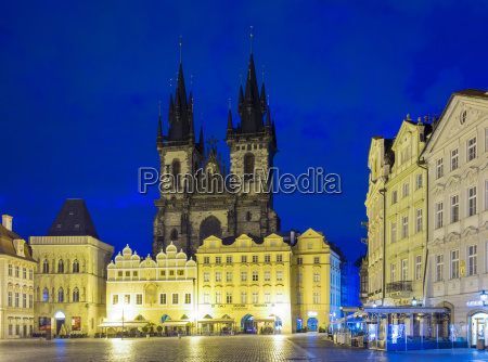 tyn cathedral on starometske namesti old