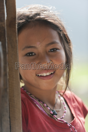 nepali girl near kalibote on the
