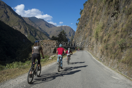mountain biking near the tibetan border