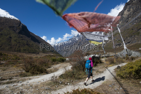 in the langtang valley a woman