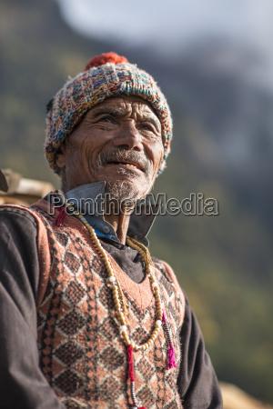 an old tibetan man in the
