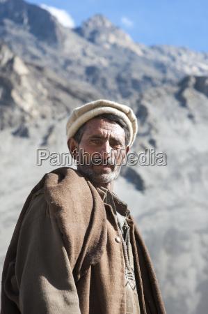 a man photographed near skardu gilgit