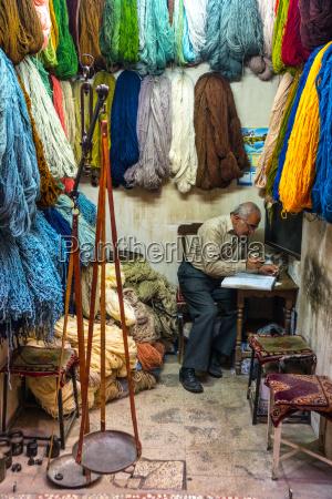 carpet wool dealer old bazaar kashan