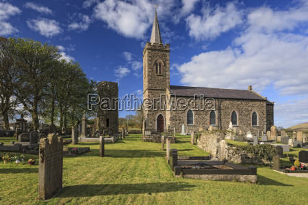church and roundtower fermoy county antrim