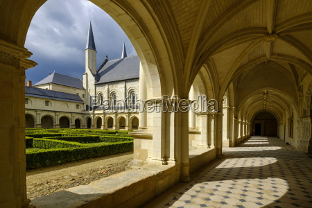 cloister abbey of fontevraud dating from