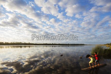 clouds at sunset pangalanes lakes canal