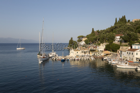 view over harbour loggos paxos ionian