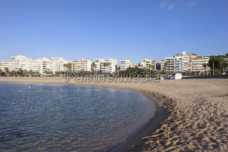 spain catalonia blanes beach and sea