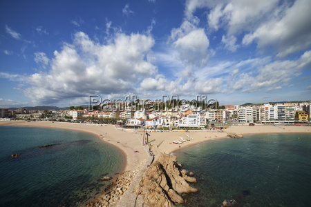spain catalonia blanes resort seaside town