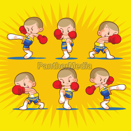 muaythai kids boxing fighting