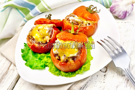 tomatoes stuffed with rice and meat