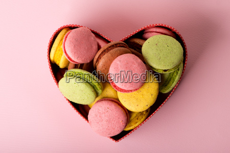 macarons in gift box