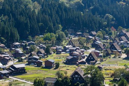 old town in shirakawago village