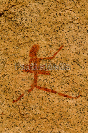 rock art showing human figure brandberg
