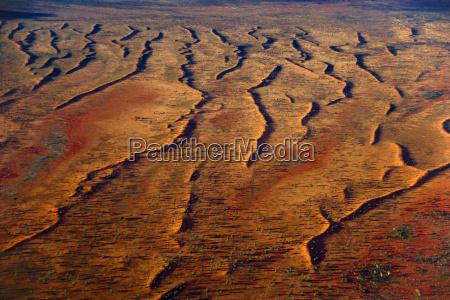 sand dunes aerial view central australia