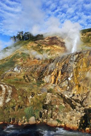 erupting geyser valley of the geysers