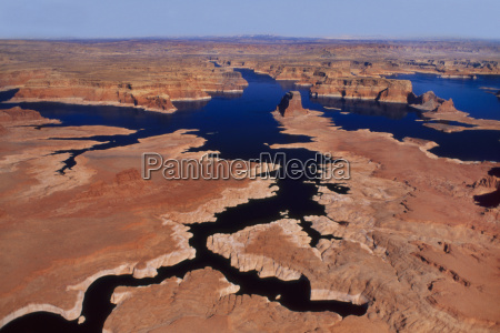 low water levels viewed from the