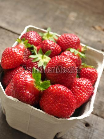 organic strawberries close up